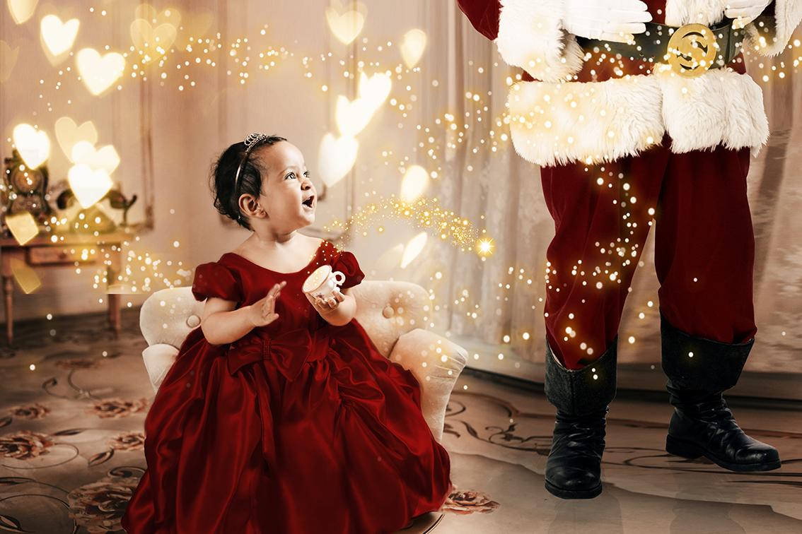 Foto de Bebê no natal